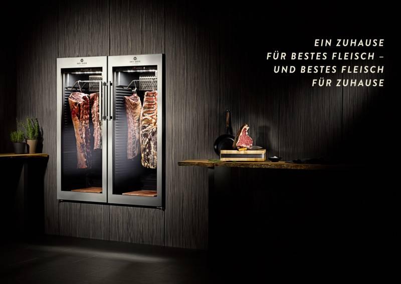Dry Ager Set: Fleisch-Reifeschrank + Edelstahl Gehänge