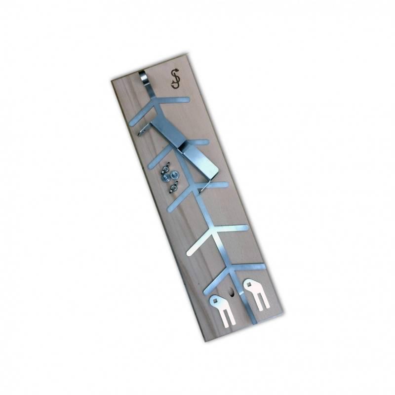 Flammlachsbrett Buche 140mm Klemm-Variante mit 6mm Nut