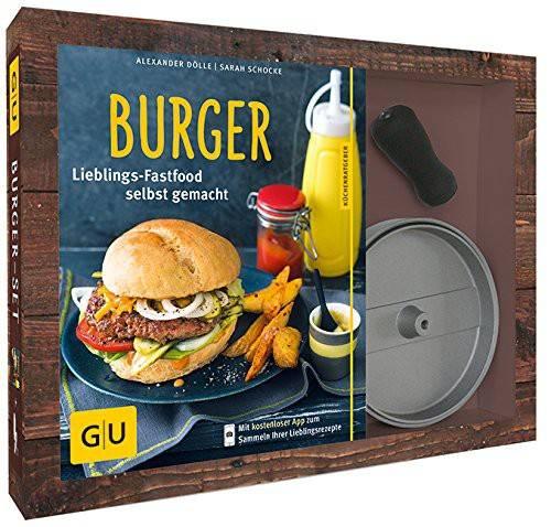Burger Set mit Buch und antihaftbeschichteter Burgerpresse Ø11 cm