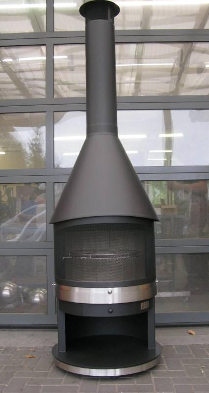Grillkamin Tirol Typ 3 grau