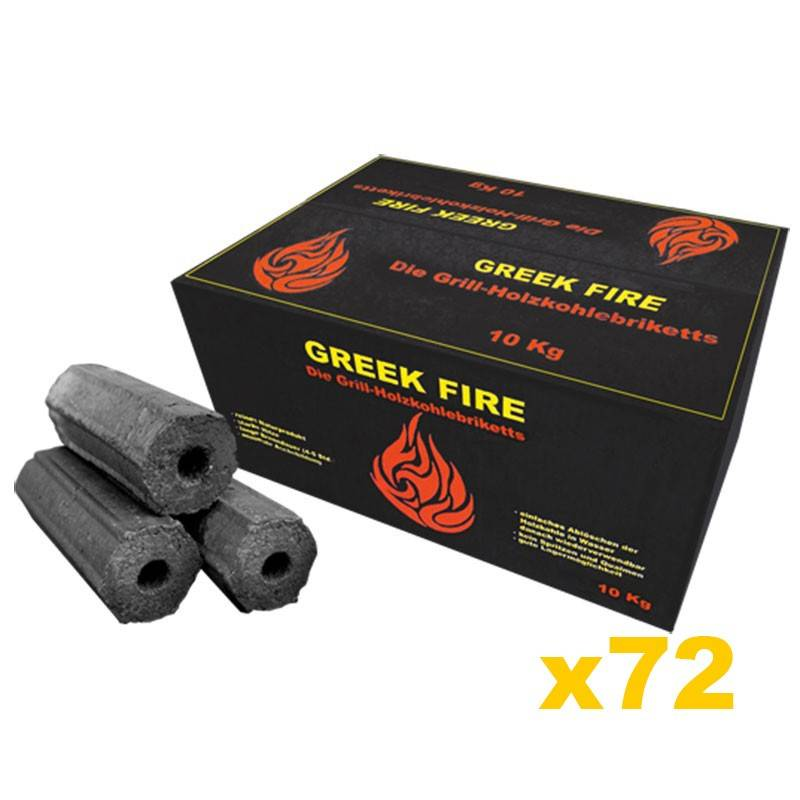 Greek Fire Holzkohlebriketts - 1 Palette = 720kg