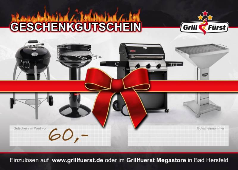Grillfürst Geschenk Gutschein 60€