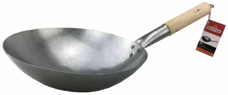 Grillfürst Wok Carbonstahl Durchmesser 30 cm