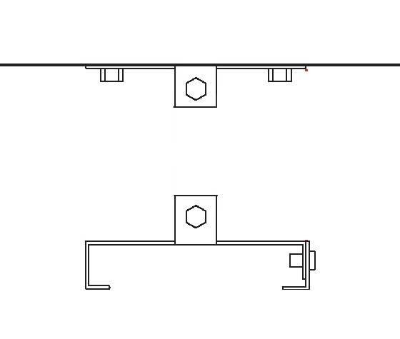 Heatstrip Design Deckenhalterung ohne Stange