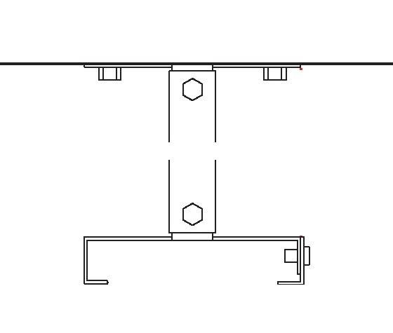 Heatstrip Design Deckenhalterung 300mm