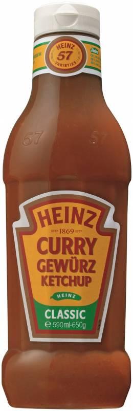 Curry Gewürz Ketchup Classic 590ml Plastikflasche