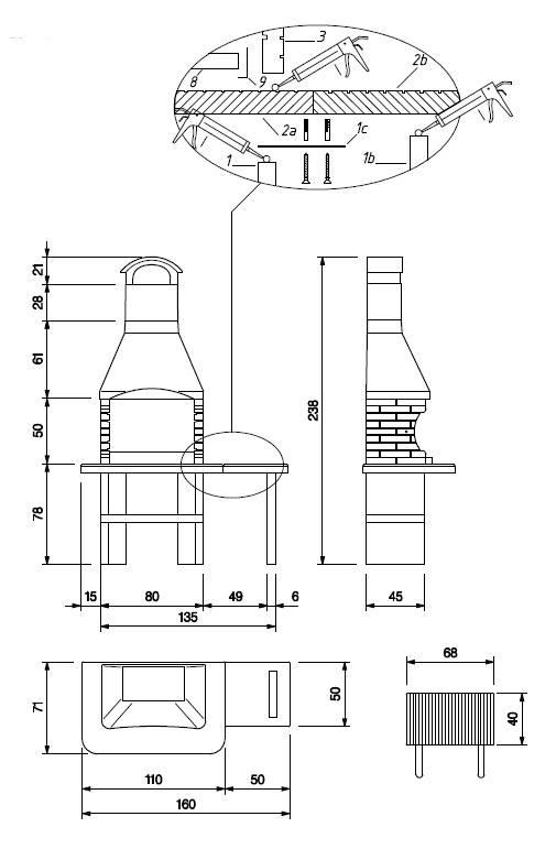 Palazzetti Grillkamin Jesolo 2 inkl. Montagematerial