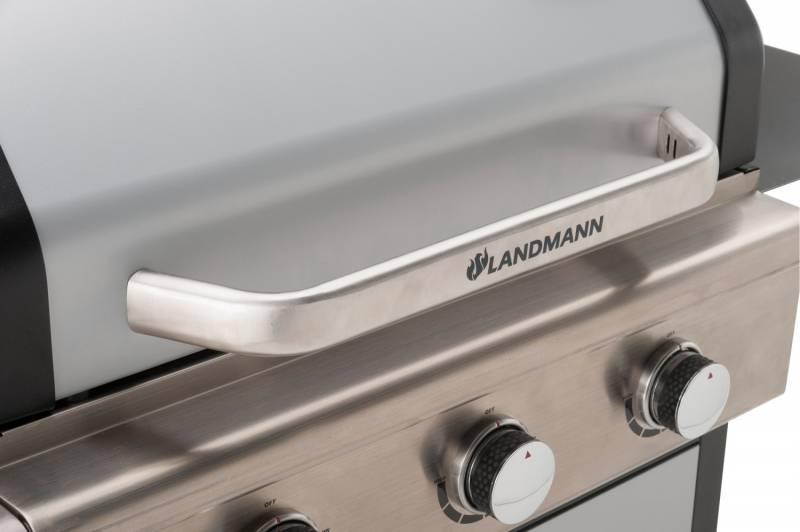 Landmann Gasgrillwagen Triton 3 mit PTS, Silber