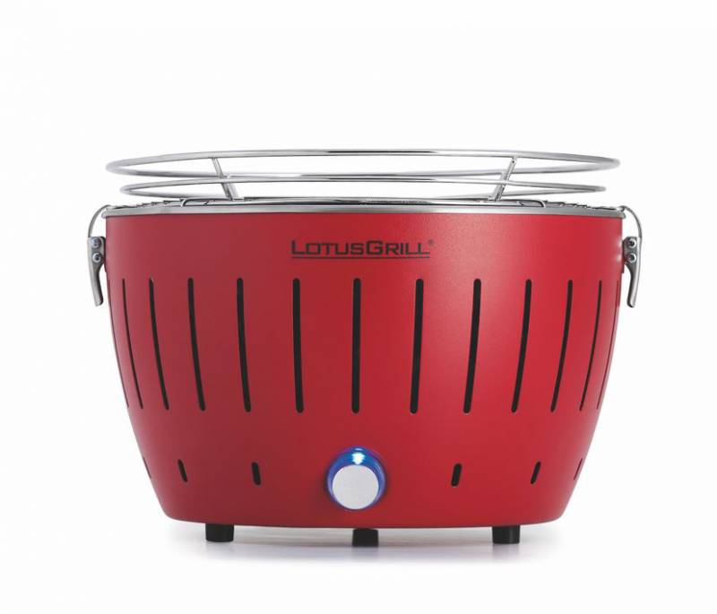 LotusGrill S - Holzkohle Tischgrill - Feuerrot inkl. Tasche