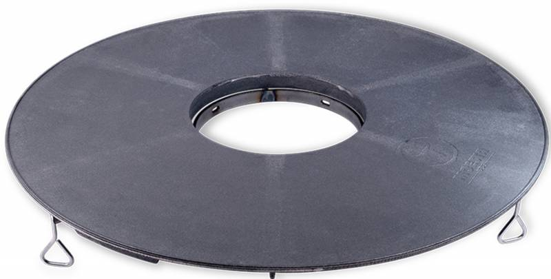 Moesta Set: BBQ-Disk Feuerplatte für Kugelgrills inkl. Höhenversteller