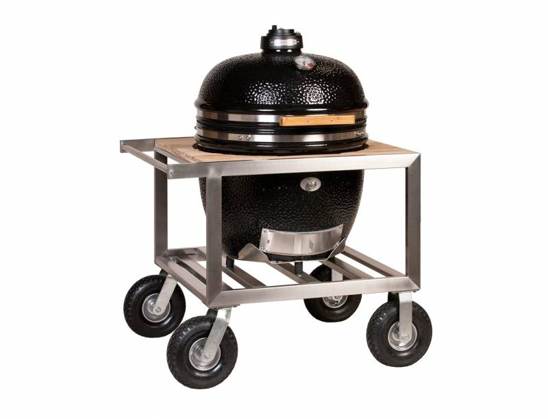 Monolith Grill LeChef Black im Buggy - der mobile Keramikgrill