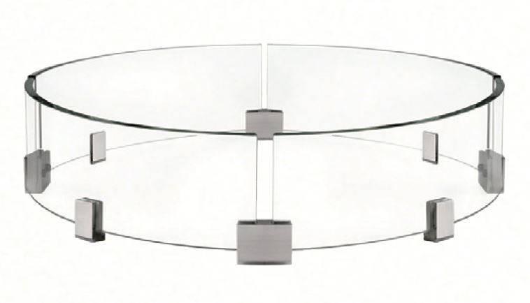 Napoleon Windschutz für Feuertisch rund