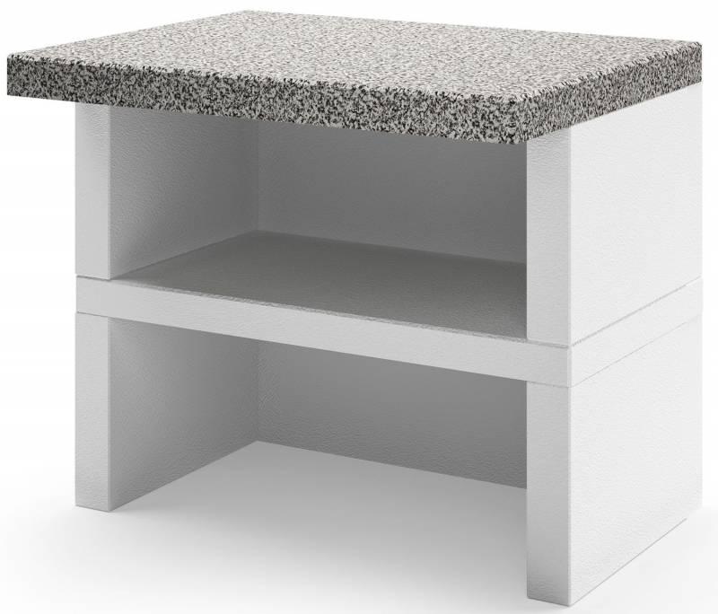 Palazzetti Gartenküche: Modul Arbeitsfläche, Marmortech grau