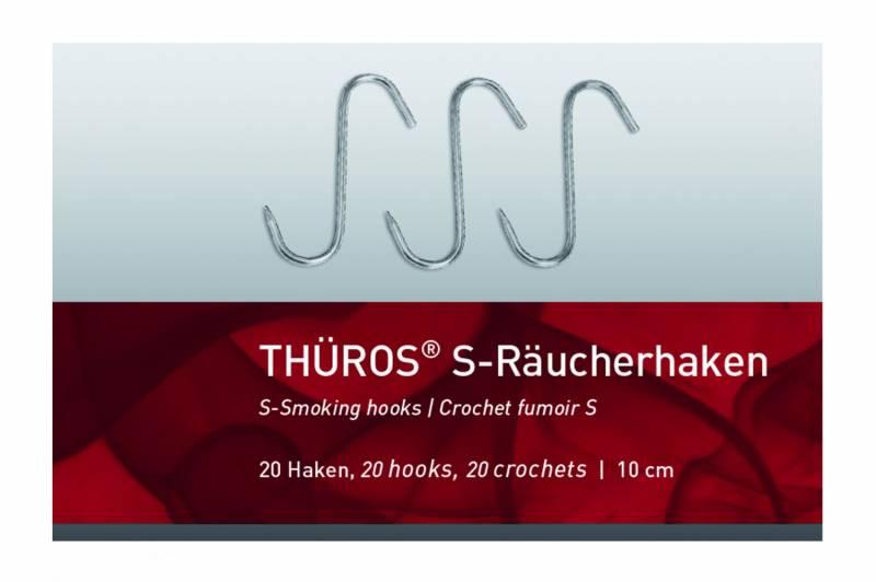 Thüros S-Räucherhaken 10 cm, 20 Stück