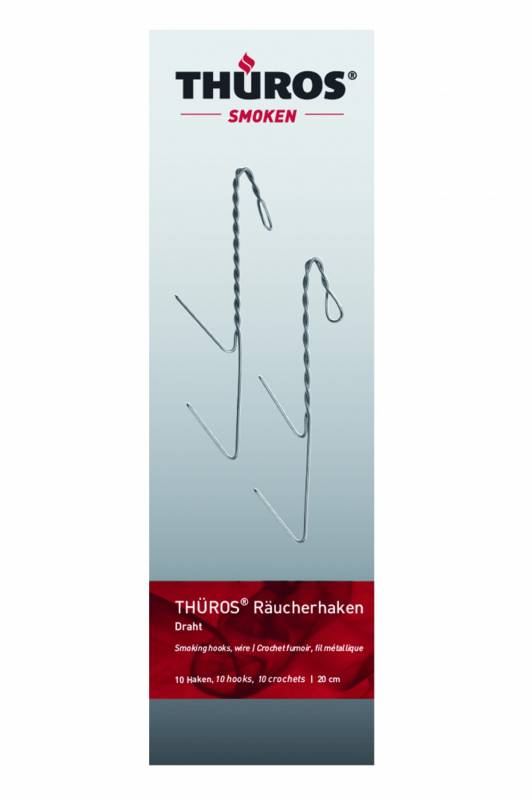 Thüros Räucherhaken 20 cm, 10 Stück