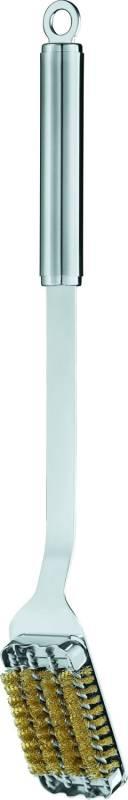 Rösle Grillbürste Edelstahl mit Messingborsten 46,5 cm