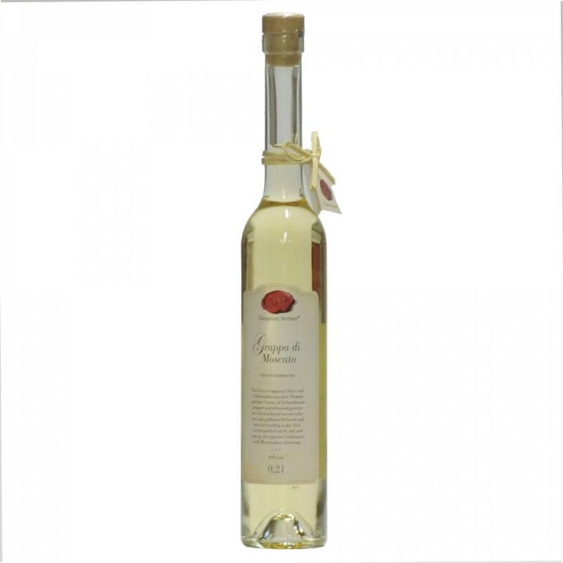Gourmet Berner Grappa di Moscato, 40%vol., 0,2l