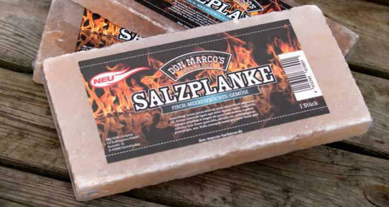 Don Marco's Original Grill und BBQ Salzplanke S 20 x 10 x 2 cm