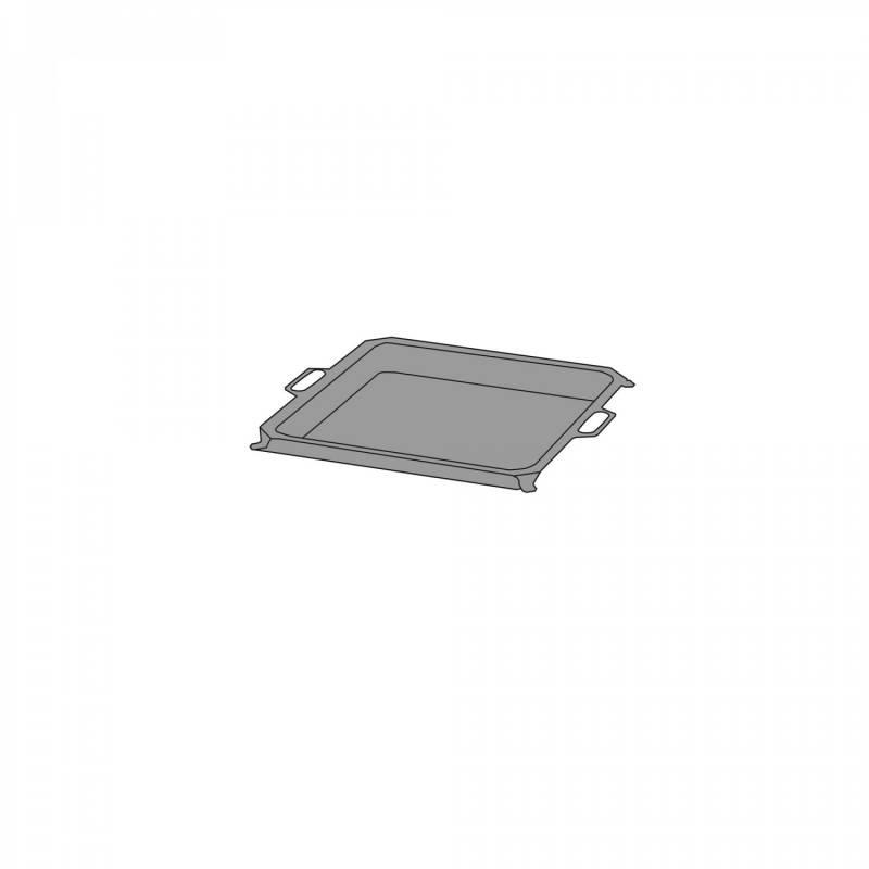 Stahl Pfanne für 2 Brenner Gastrobräter TGO