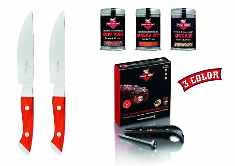 Steak Champ Steak-Gourmet Set 3c black