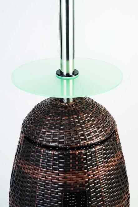 TGO Heizpilz 5 - 8,3kW mit Glastisch