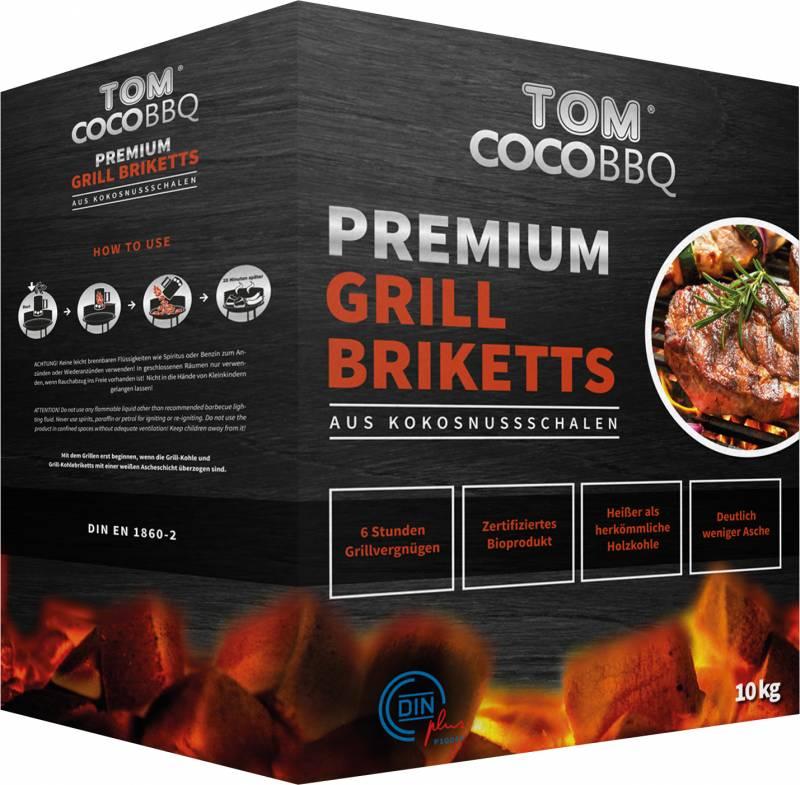 TOM Cococha Rot BBQ Grillbriketts 10kg