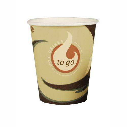 50 Cafebecher Pappe To Go 0,2 l  8 cm bis 9,1 cm
