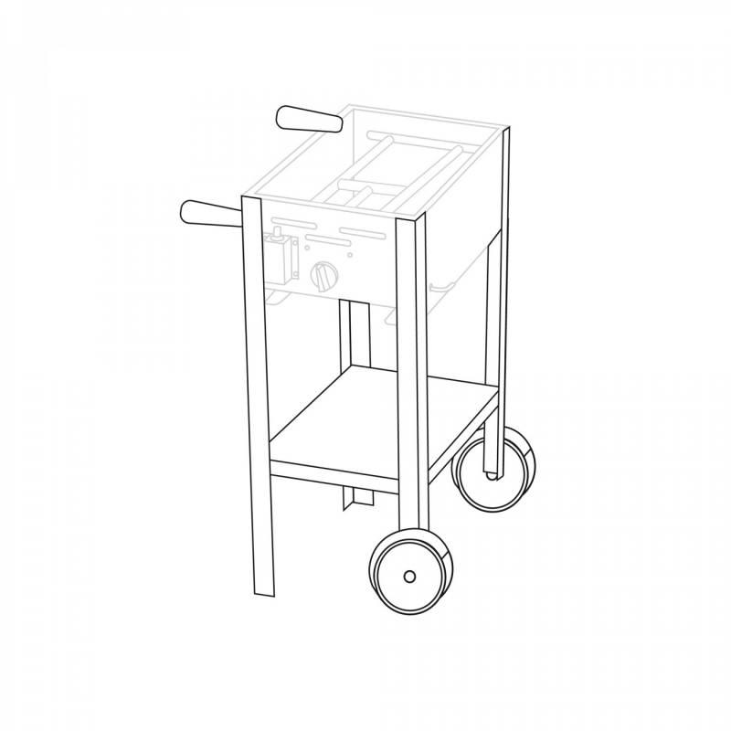 Untergestell fahrbar für 1 Brenner Gastrobräter TGO