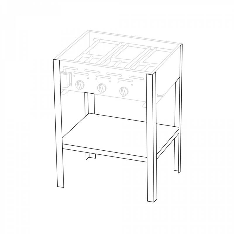Untergestell für 3 Brenner Gastrobräter TGO