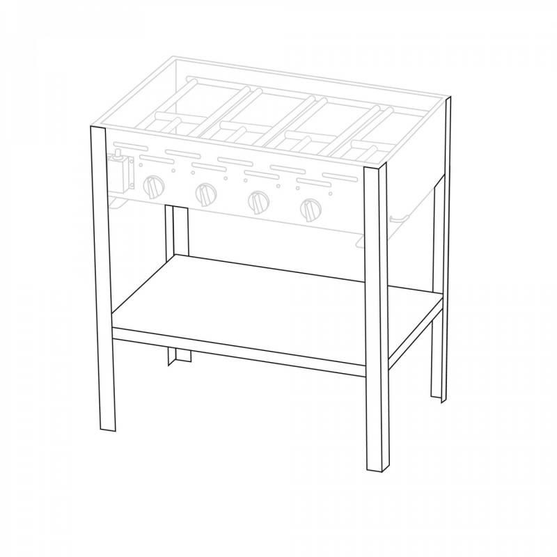 Untergestell für 4 Brenner Gastrobräter TGO