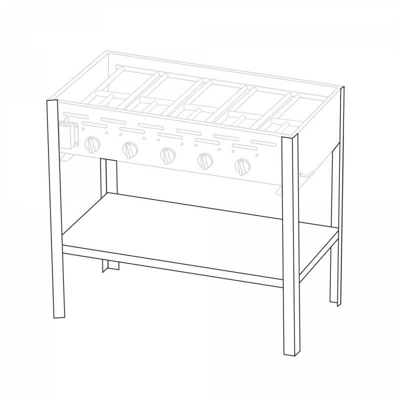 Untergestell für 5 Brenner Gastrobräter TGO