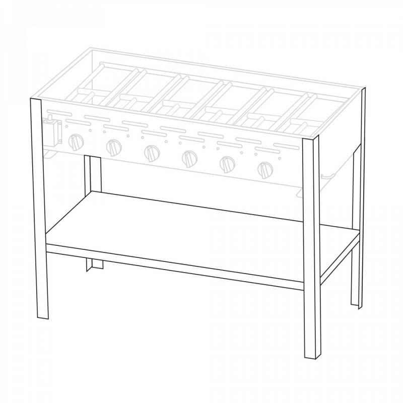 Untergestell für 6 Brenner Gastrobräter TGO