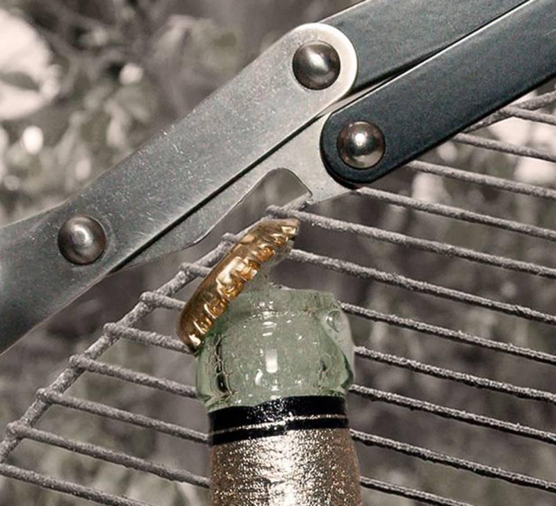 V-Tong Grillzange 43 cm mit Nußholzgriff