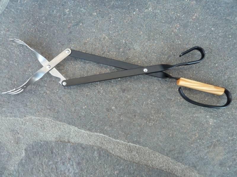 V-Tong Grillzange 43 cm mit Olivenholzgriff