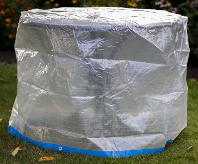 landmann tischh lle rund transparent 150cm. Black Bedroom Furniture Sets. Home Design Ideas