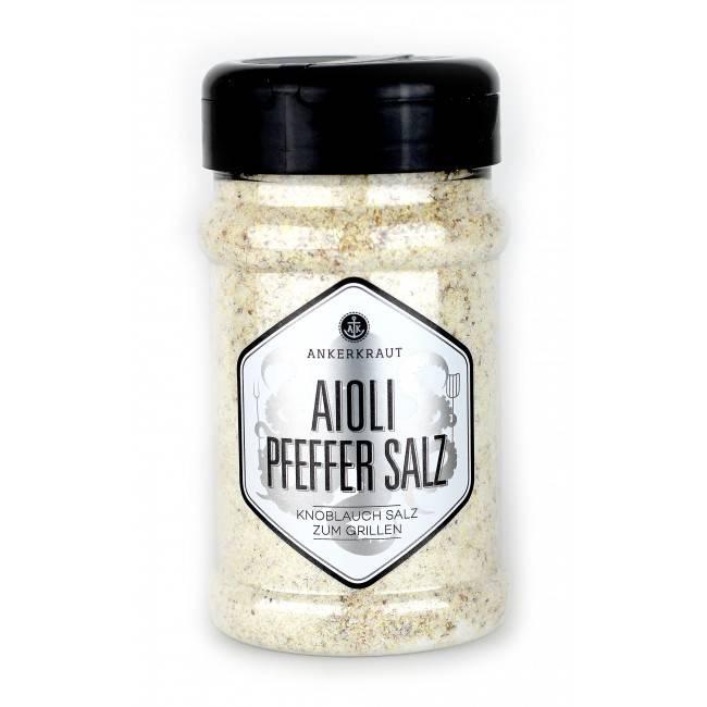 Ankerkraut Aioli-Pfeffer Salz, Salzmischung, 310 g Streuer
