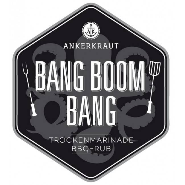Ankerkraut Bang Boom Bang, BBQ-Rub, 210 g Streuer