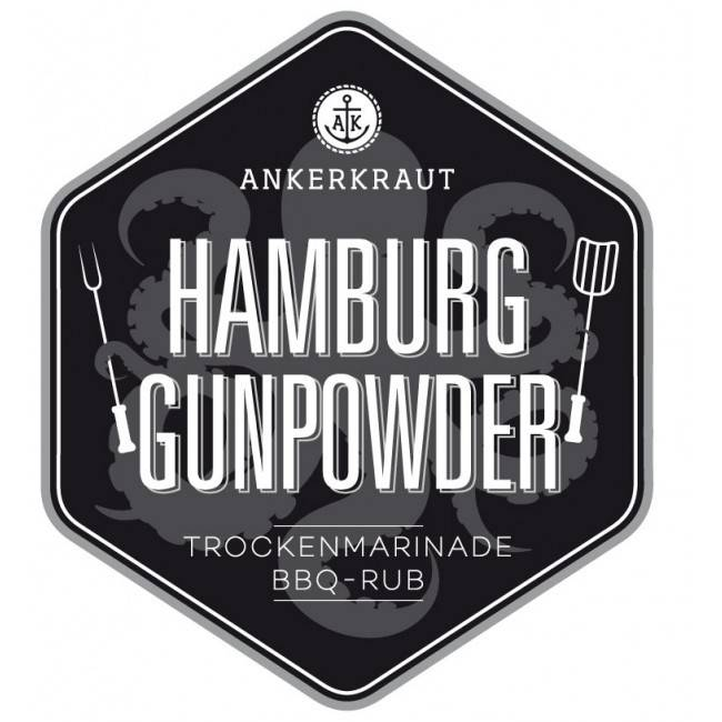 Ankerkraut Hamburg Gunpowder, BBQ-Rub, 200 g Streuer