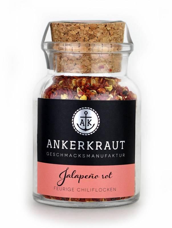 Ankerkraut Jalapeño rot, geschrotet, 55 g Glas