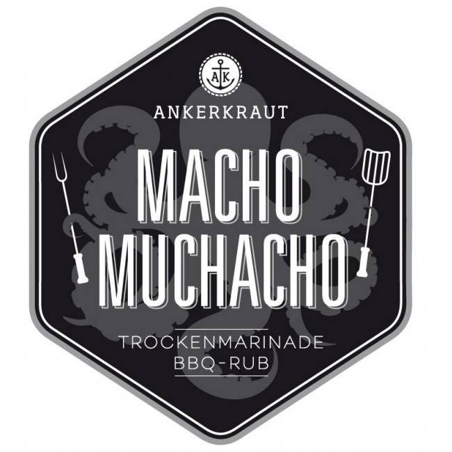 Ankerkraut Macho Muchacho, BBQ-Rub, 200 g Streuer