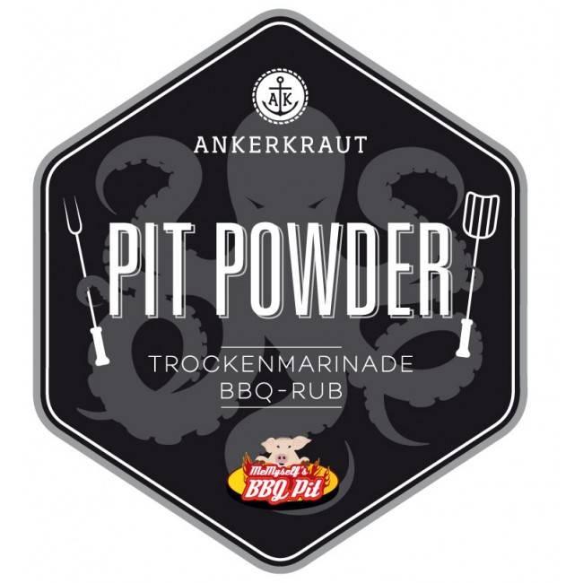 Ankerkraut Pit Powder, BBQ-Rub, 210 g Streuer