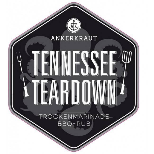 Ankerkraut Tennessee Teardown, BBQ-Rub, 200 g Streuer