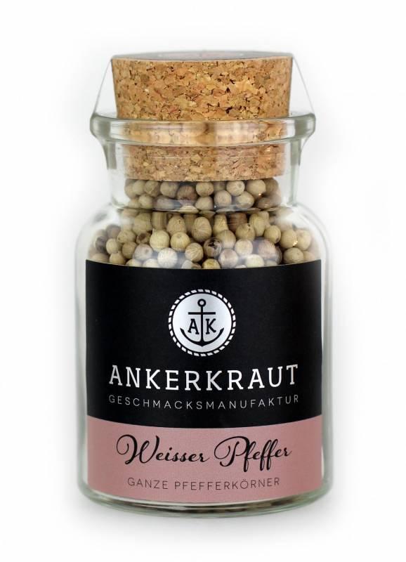 Ankerkraut Weisser Pfeffer, ganz, 95 g Glas