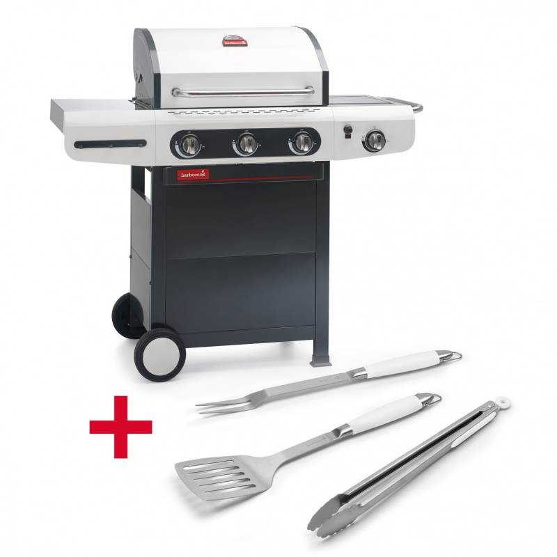 Barbecook Gasgrill Siesta 310 + Besteckset Snow - Auslaufmodell
