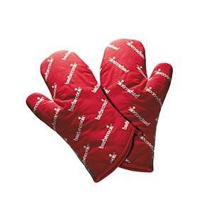 Barbecook paar rote kurze Grill Handschuhe