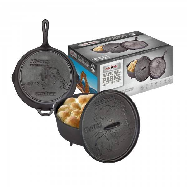 "Camp Chef 12"" Gusseisen Set Nationalpark Dutch Oven + Pfanne"