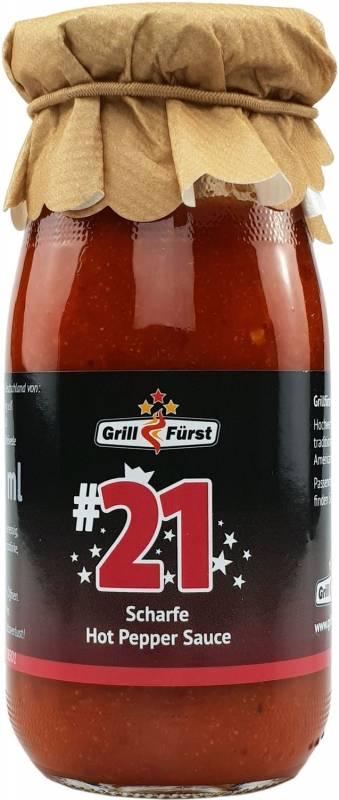 Grillfürst BBQ Sauce No. #21, die scharfe Hot Pepper Sauce