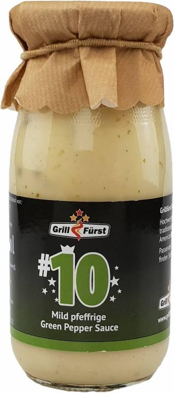 Grillfürst BBQ Sauce No. #10, die mild pfeffrige Green Pepper Sauce