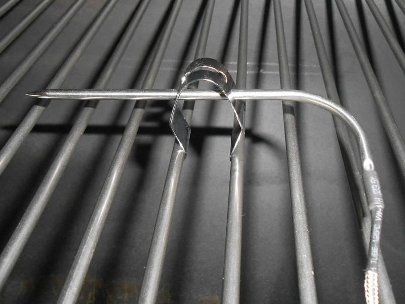 Thermometer Clip passend für Maverick, TFA, Napoleon, Weber, Outdoorchef - Temperaturfühler Halterung BBQ Clamp - Clips für Grill- und Bratenthermometer