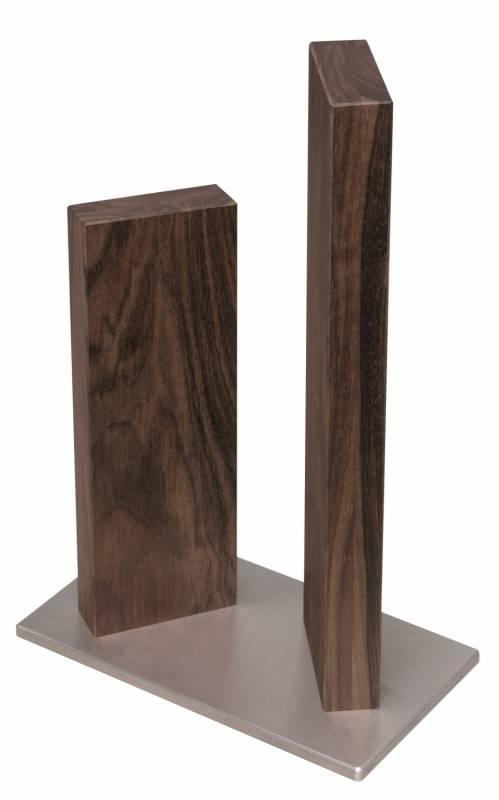 Kai Stonehenge Messerblock magnetisch, Edelstahl/Walnuss